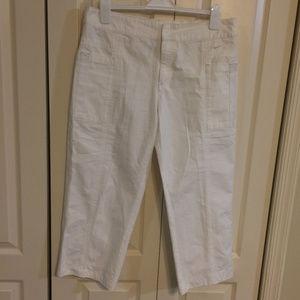 Nike Womens Capri Pants 100% Cotton White